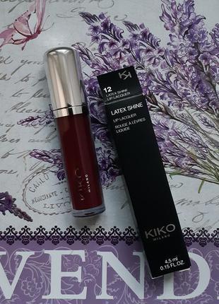 Latex shine lip lacquer! лаковая стойкая жидкая помада kiko mi...