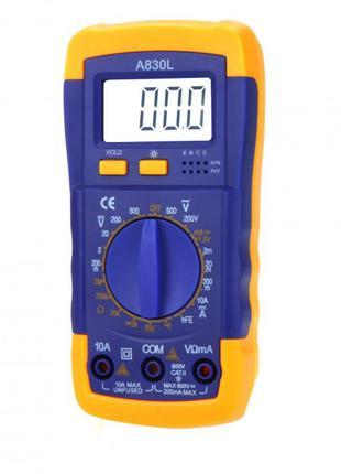 Мультиметр (тестер) Digital A830L с подсветкой дисплея