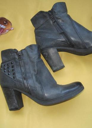 Качественные ботинки из нубука,р.38,jin walking,отличное состо...