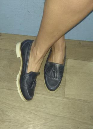 Кожаные туфли лоферы next р 37-38