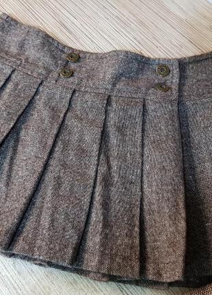 Зимняя мини юбка + жилет