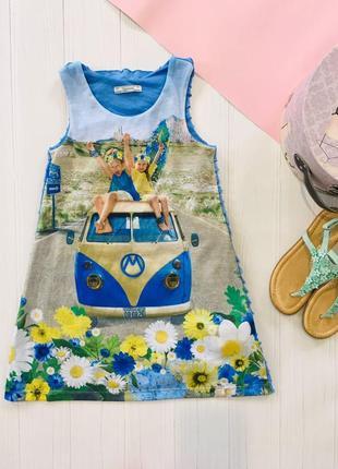 Летнее платье сарафан с рюшами