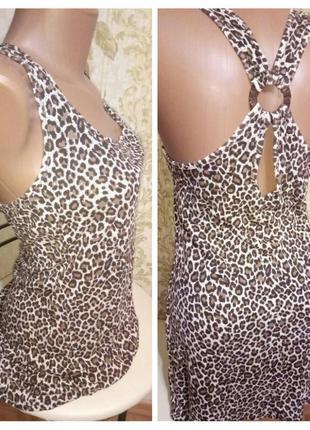 Платье - сарафан - туника леопардовый принт