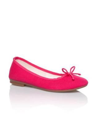 Текстильные туфли балетки фуксия lc waikiki турция