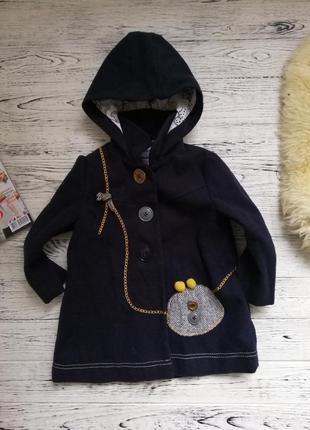 Очень красивое стильное пальто для девочки некст next