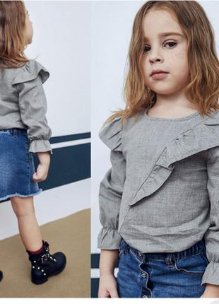 Детская блуза с воланом