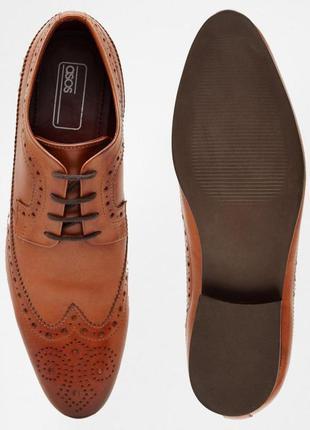 Кожаные туфли броги асос asos