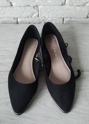 Primark испания удобные туфли балетки