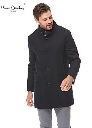 Черное мужское пальто плащ тренч деми утепленный длинное с вор...