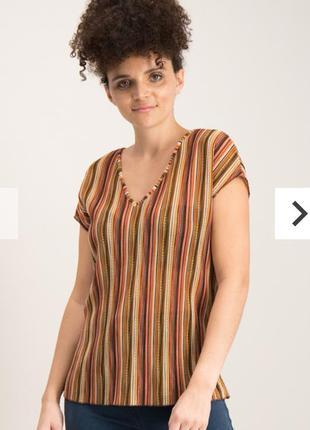 Стрейч топ блуза с люрексом в стиле ретро 16/50-52 размера