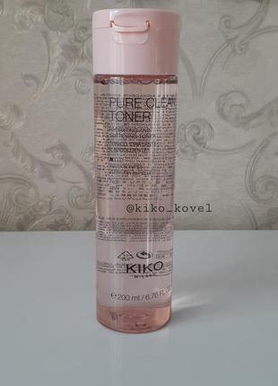 Тоник для лица kiko milano pure clean toner!