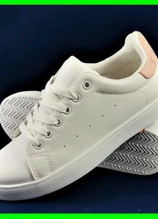 Женские белые кроссовки слипоны р36-41