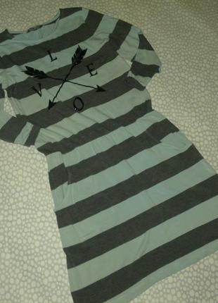 Платье в полоску 12-14 лет
