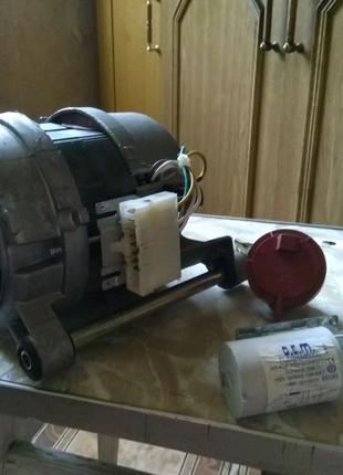 Мотор стиральной машины Ardo+пара противовесов одним лотом