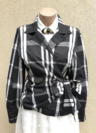 Блуза в клетку,жакет,пиджак,блейзер на запах,куртка,большой ра...