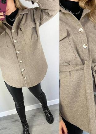 Рубашка-пальто мокко р.42-52 шоколад