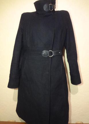 Красивое утепленное шерстяное пальто mango размер m l
