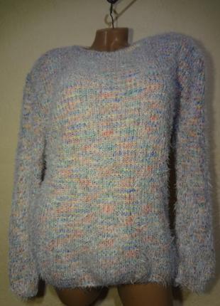 Красивый яркий нежный свитер травка g&y размер м