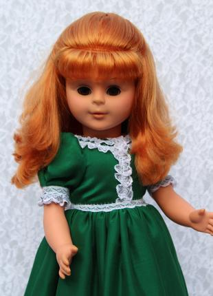 Рыжая. кукла- лялька-куколка - гдр- большая - 60 см