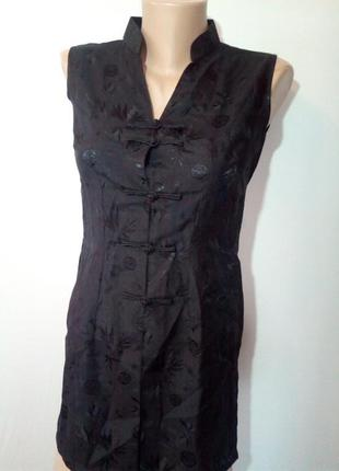 Блузка  туника платье в китайском стиле.