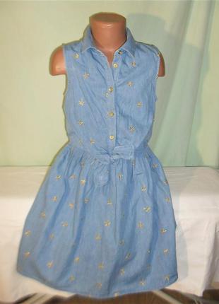 Джинсовое платье на 10-11лет