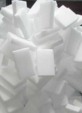 Меламиновые губки. Хорошая плотность.Упаковка 100 шт.