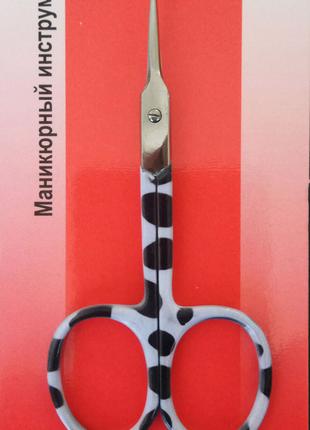 Ножницы для кутикулы ТМ LEADER с цветными ручками