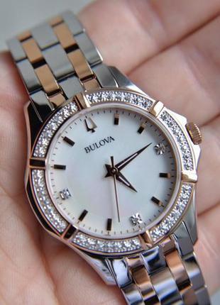 Женские часы с бриллиантами bulova.новая коллекция!
