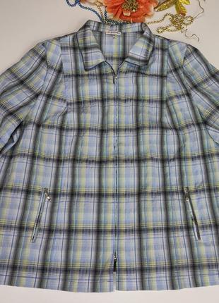 Блуза женская большого размера на замочке размер 62