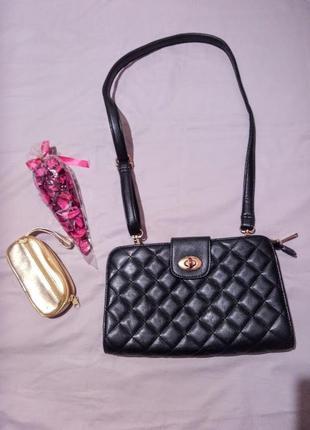 Стильная стёганая сумка,клатч 👜forever 21