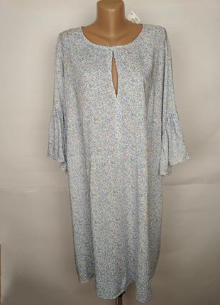 Платье натуральное новое легкое цветочное большой размера h&m ...