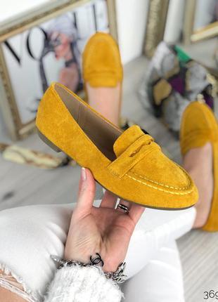 Стильные горчичные туфельки