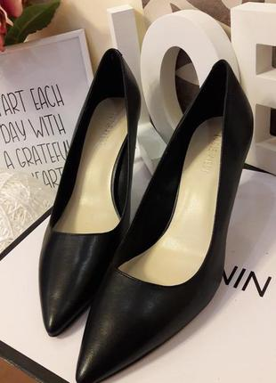 Туфли лодочки натуральная кожа nine west