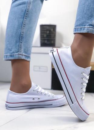 ❤ женские белые джинсовые  кеды  ❤