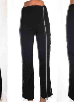 Спортивные штаны плотный стрейч с замками cambio