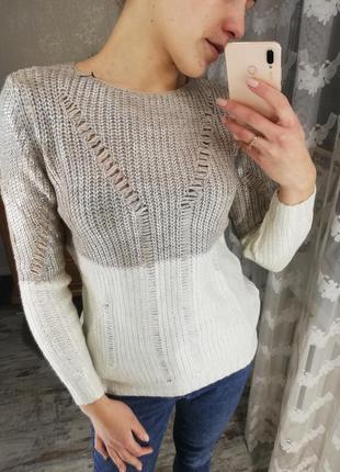 Свитер, теплый свитер, свитер с напылением