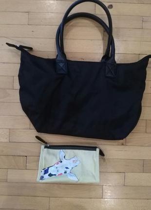 Текстильная сумка с косметичкой