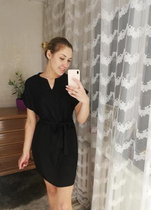 Платье, платье туника, платье свободное, платье под пояс