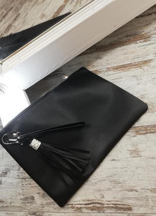 Клатч, сумка, кожаная папка