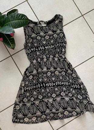 Летний легкий сарафан платье геометрический узор