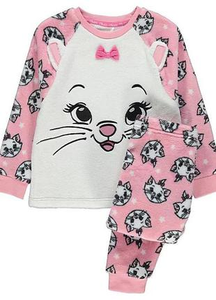 George махровая пижама с кошечкой для девочки