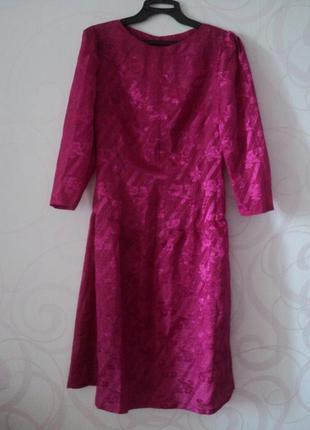 Ярко-розовое платье, винтаж, летнее коктейльное платье, платье...