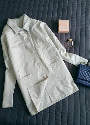 Sale! куртка, ветровка, плащ  (100% хлопок с пропиткой) серебро