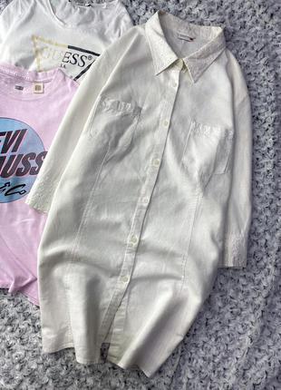 Длинная льняная рубашка nkd