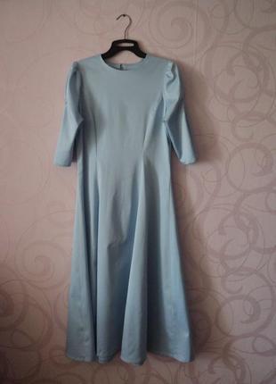 Голубое платье, винтаж, ретро, коктейльное платье, новый год, ...