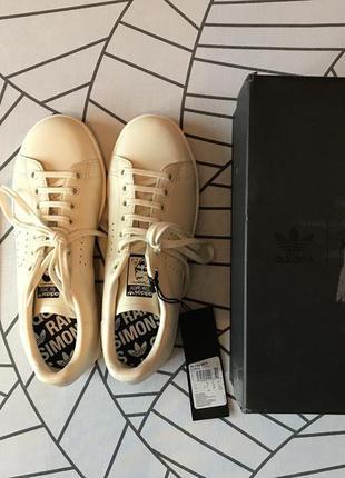 Raf simons for adidas stan smith cream кроссовки женские, us7,...