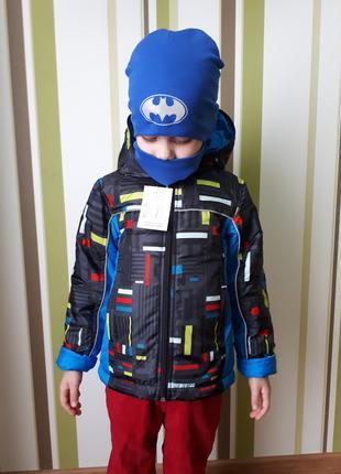 теплая яркая демисезонная куртка для мальчика Lego двойне