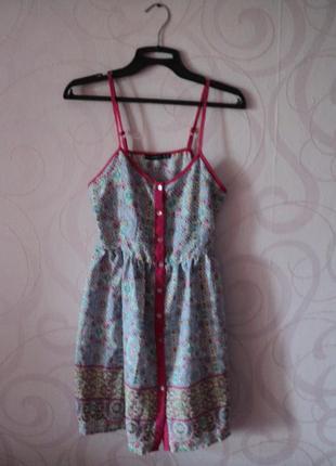 Яркое платье-сарафан, летнее платье, платье с принтом, этно ст...