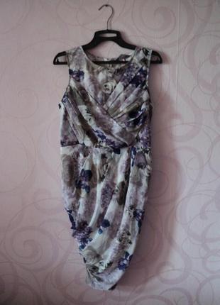 Легкое платье с цветочным принтом, летнее коктейльное платье, ...
