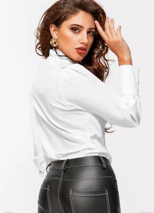 Блуза блузка белая с пухлыми рукавами 2020